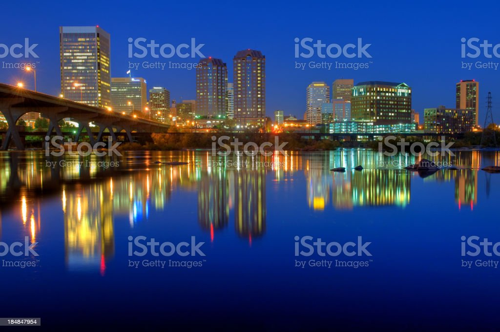 Richmond Virginia Skyline stock photo