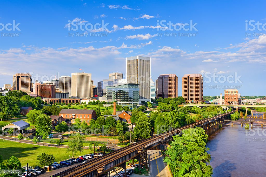 Richmond, Virginia Skyline stock photo