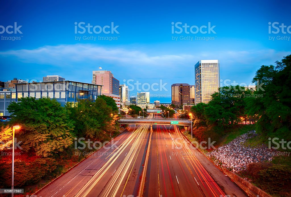 Richmond, Virginia, USA Highway stock photo