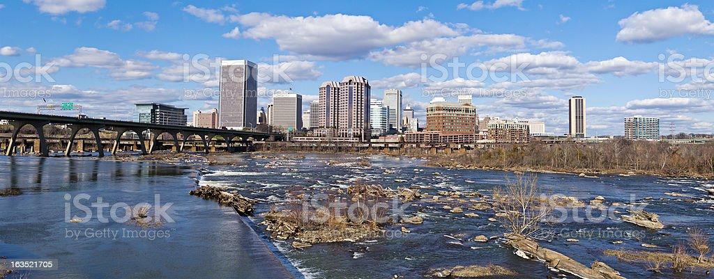 Richmond, Virginia, USA Panorama stock photo