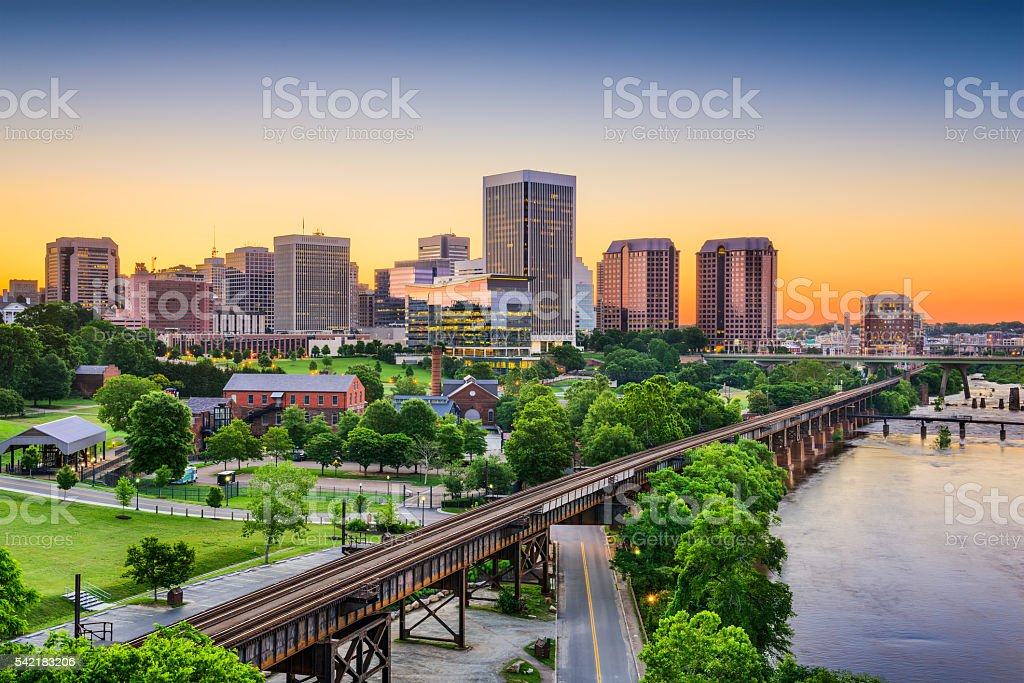 Richmond, Virginia, USA Skyline stock photo