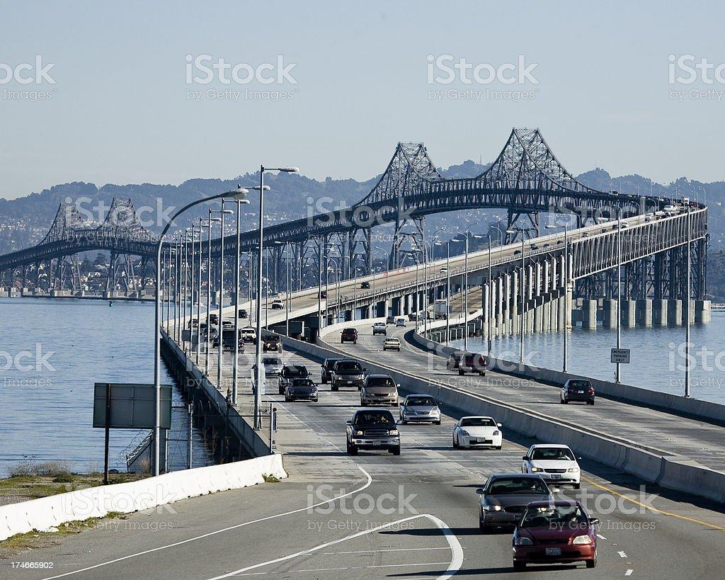 Richmond-San Rafael Bridge in San Francisco Bay Area royalty-free stock photo