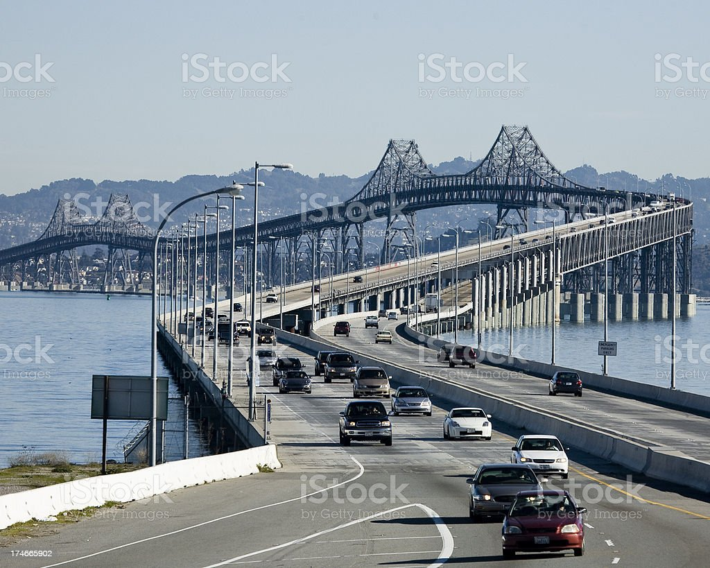 Richmond-San Rafael Bridge in San Francisco Bay Area stock photo