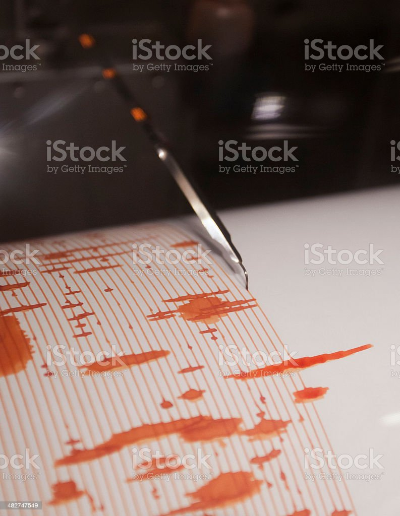 Richter Scale stock photo