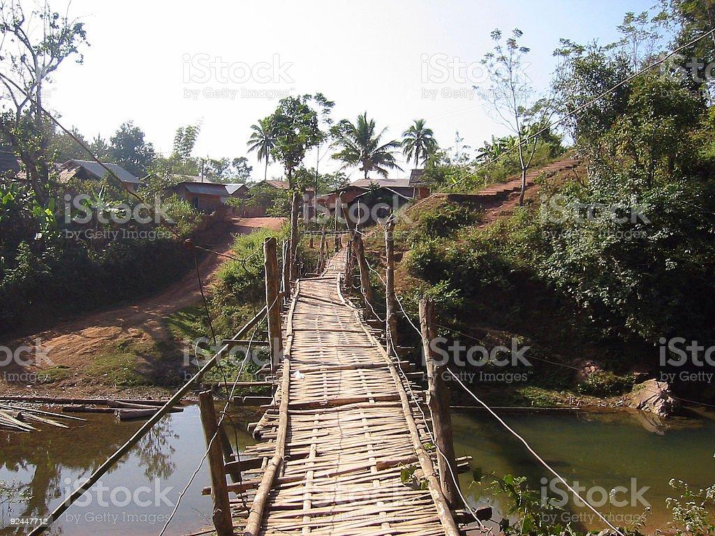 rickety bridge royalty-free stock photo