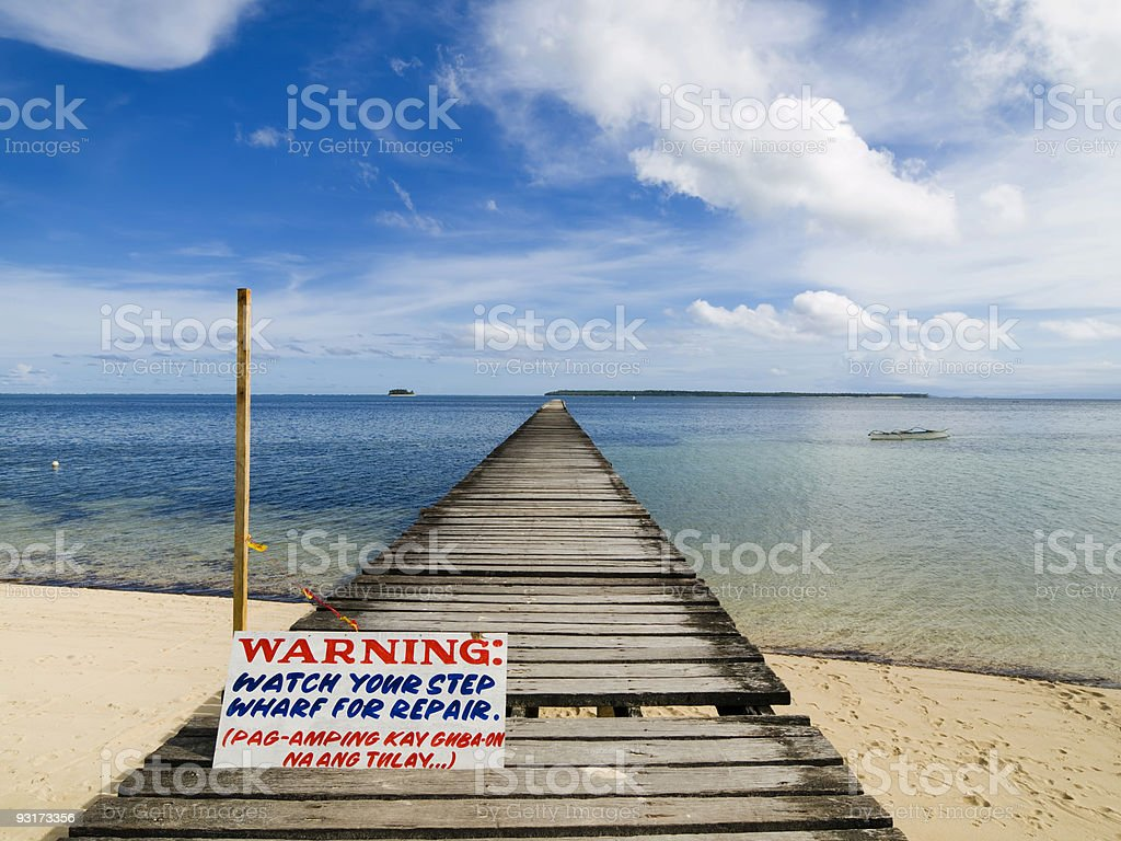 Rickety Old Pier stock photo