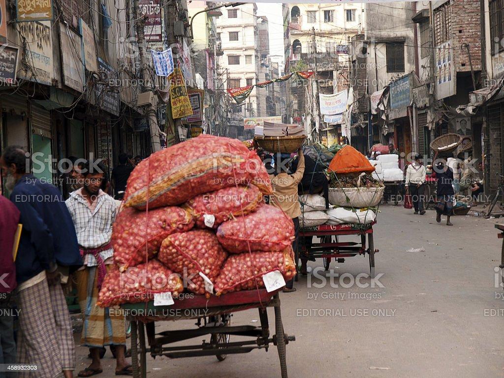 Rickshaw Drivers Life in Dhaka city Bangladesh stock photo