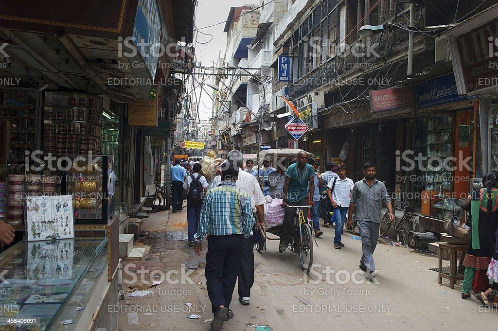 Rickshaw in New Delhi royalty-free stock photo