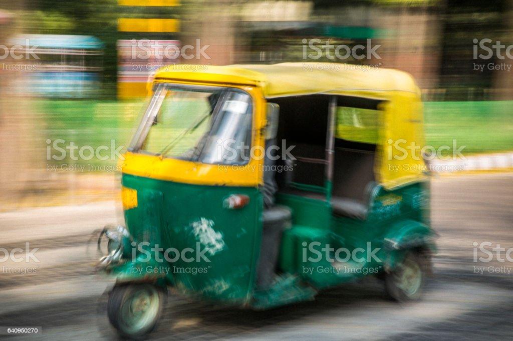 Rickshaw in New Delhi stock photo