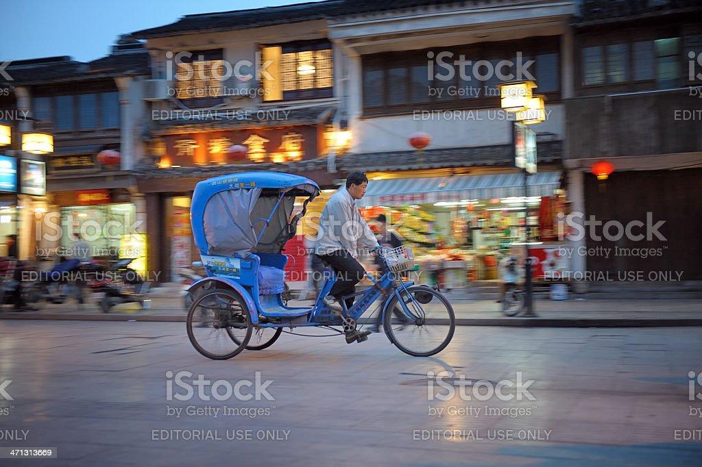 Rickshaw in Suzhou stock photo