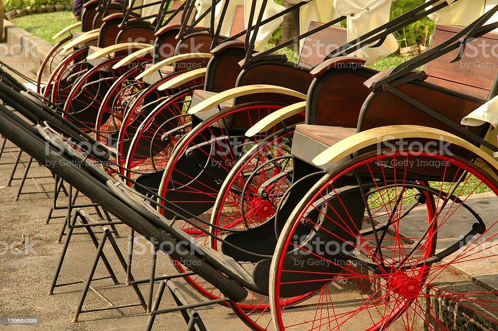 Rickshaw or Ricksha royalty-free stock photo