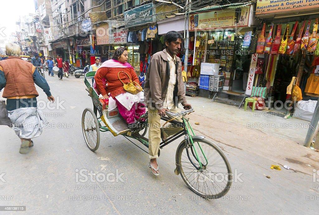 Rickshaw passenger royalty-free stock photo