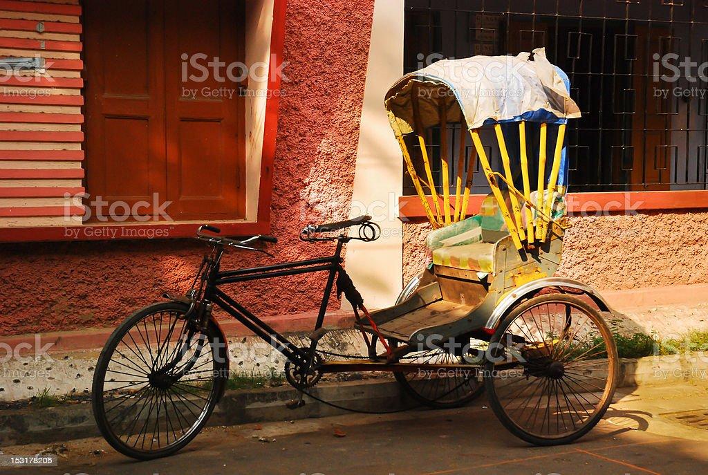 Rickshaw stock photo