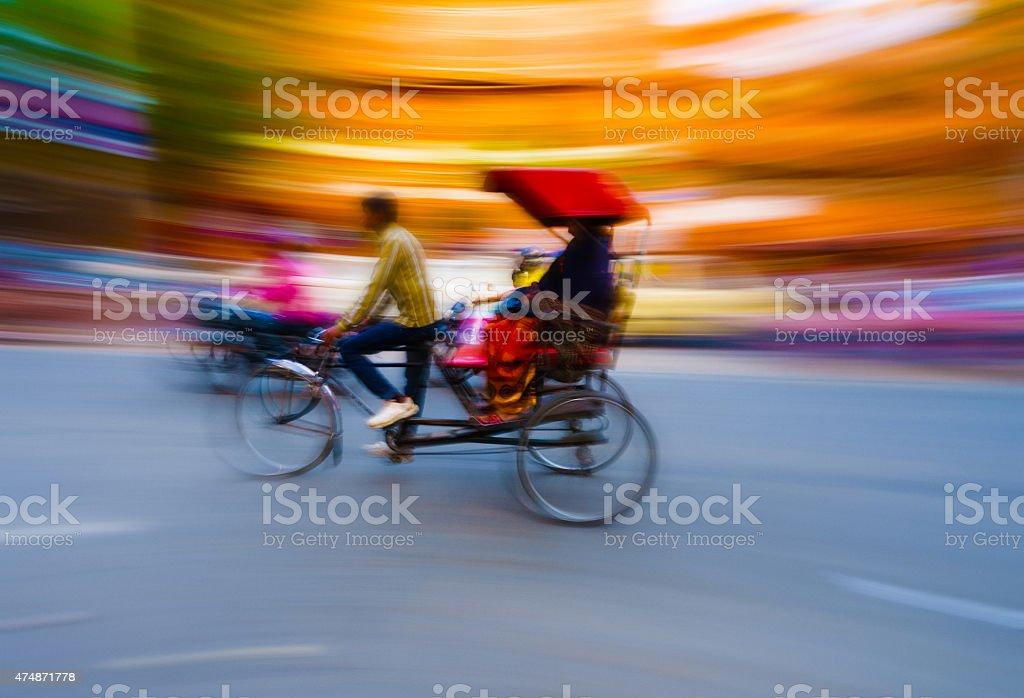 Rickshaw Taxi India stock photo