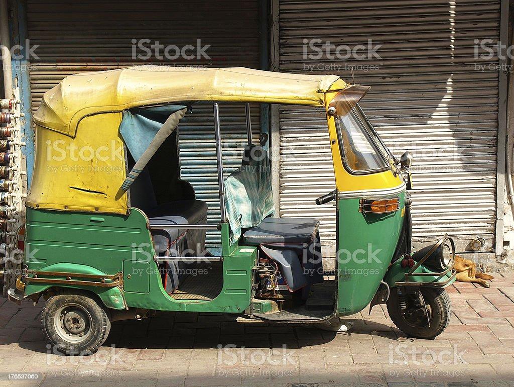 rickshaw taxi royalty-free stock photo
