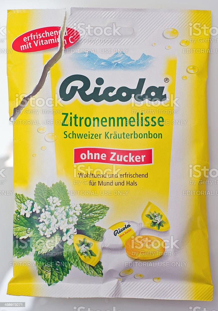 Ricola Zitronenmelisse stock photo