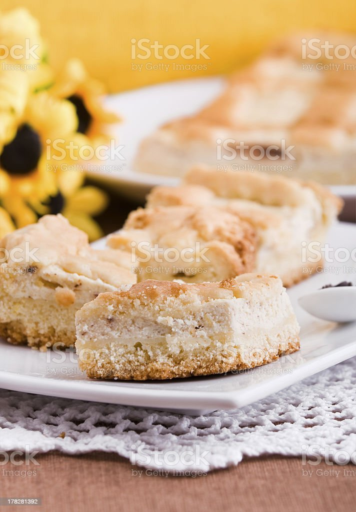 Ricotta Cake. royalty-free stock photo