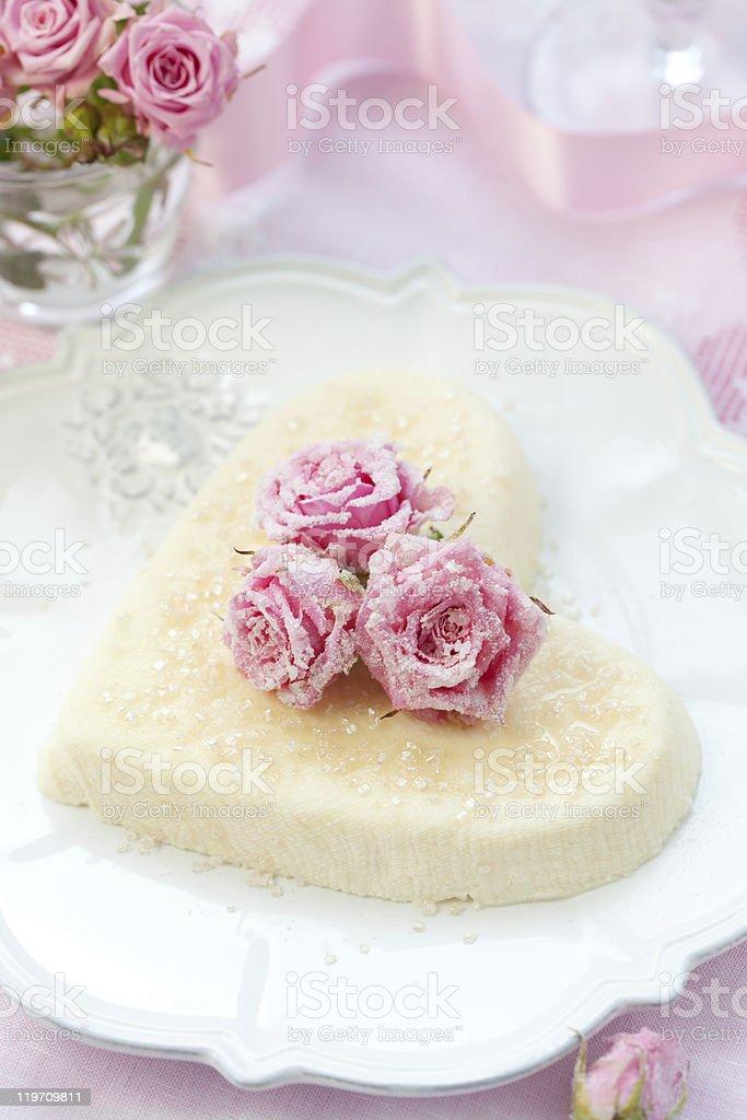 Ricotta heart royalty-free stock photo