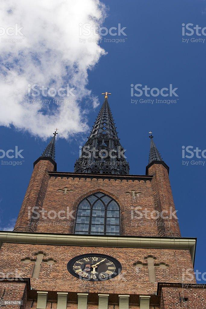 Riddarholm church stock photo