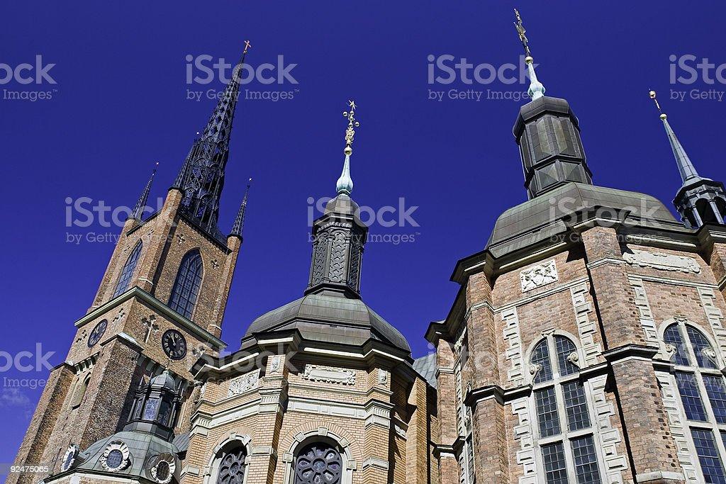 Riddarholm Church, Stockholm stock photo
