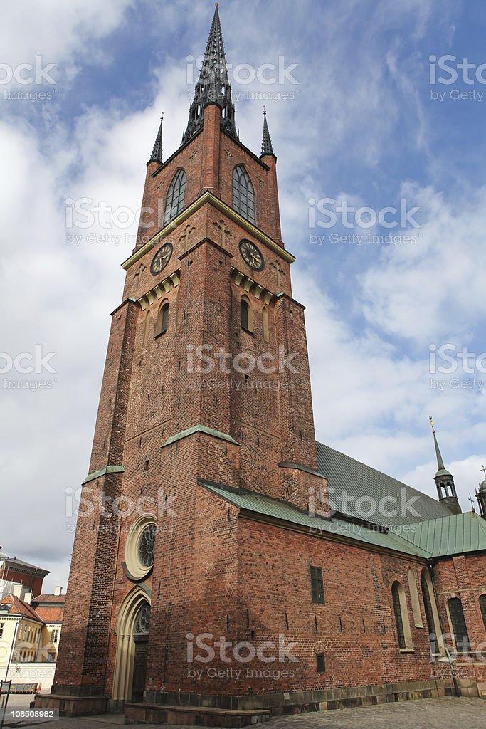 Riddarholmen church in Stockholm stock photo