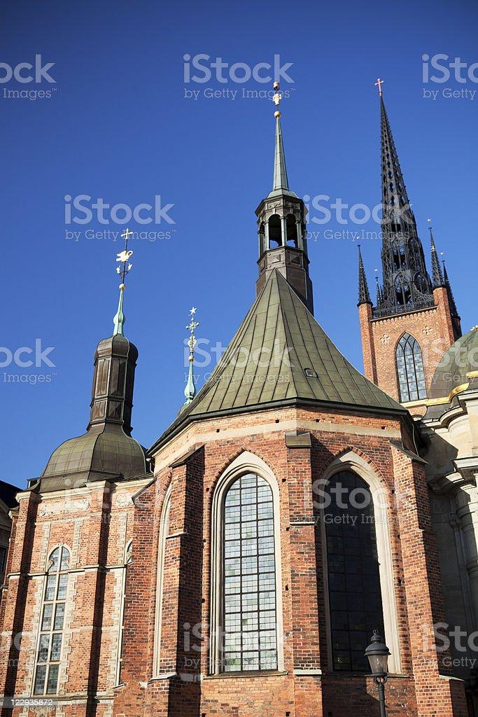 Riddarholmen church stock photo