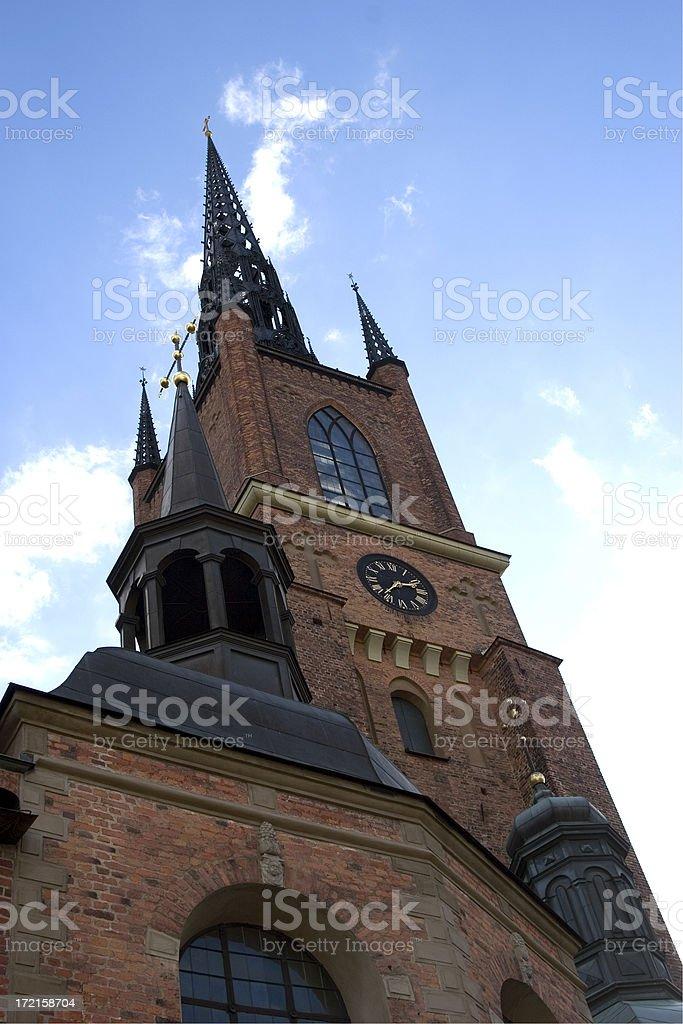 Riddarholmen Church steeple, Stockholm, Sweden stock photo