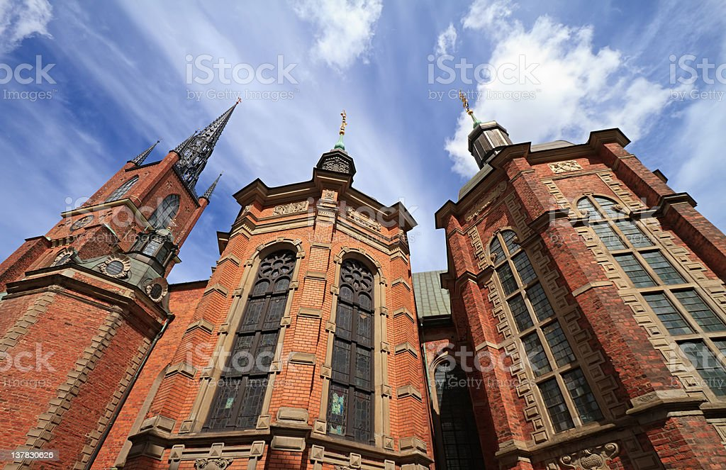Riddarholmen Church, Stockholm stock photo