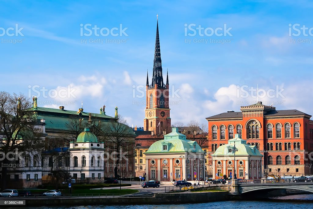 Riddarholmen Church Stockholm stock photo
