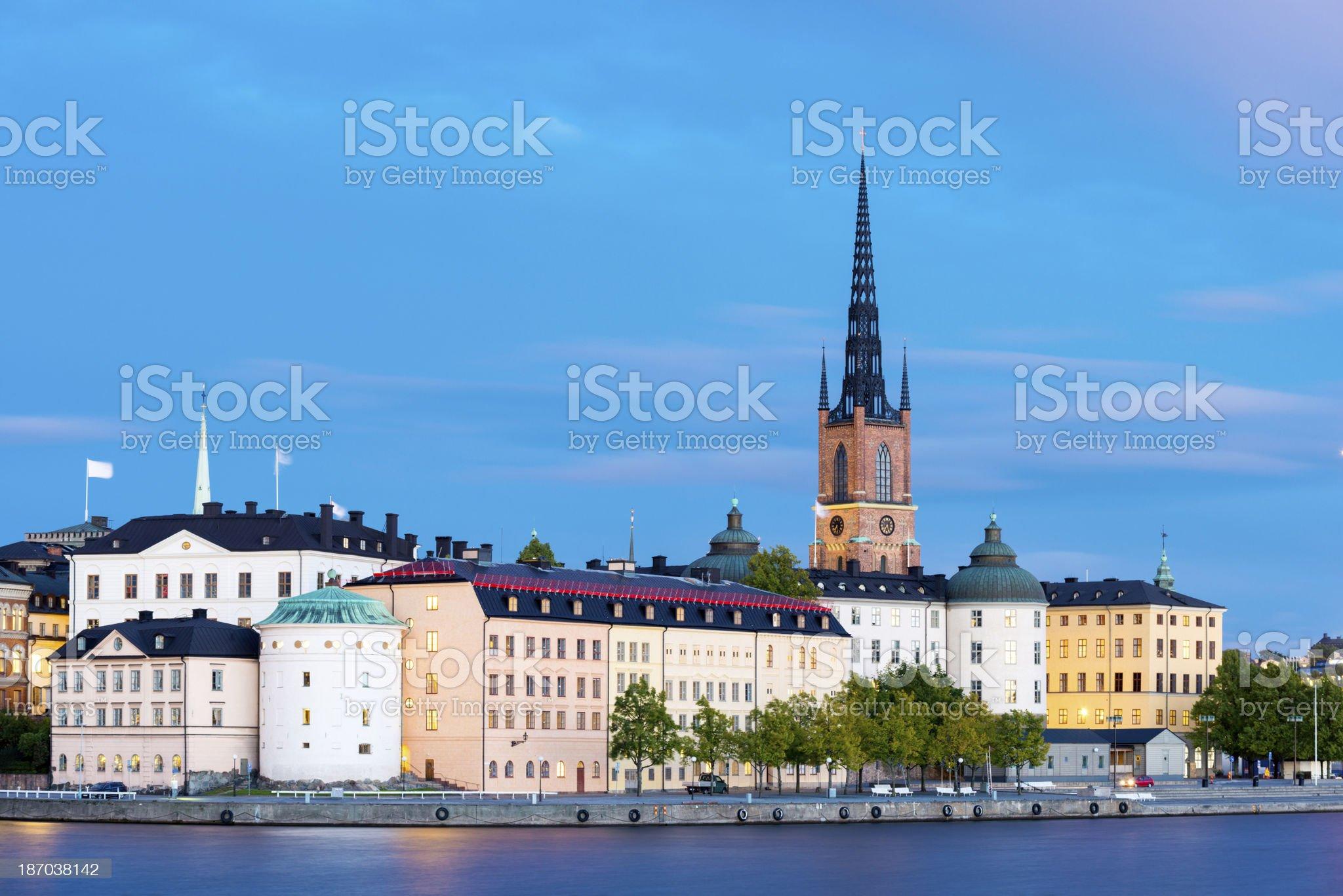 Riddarholmen in Stockholm in Sweden royalty-free stock photo