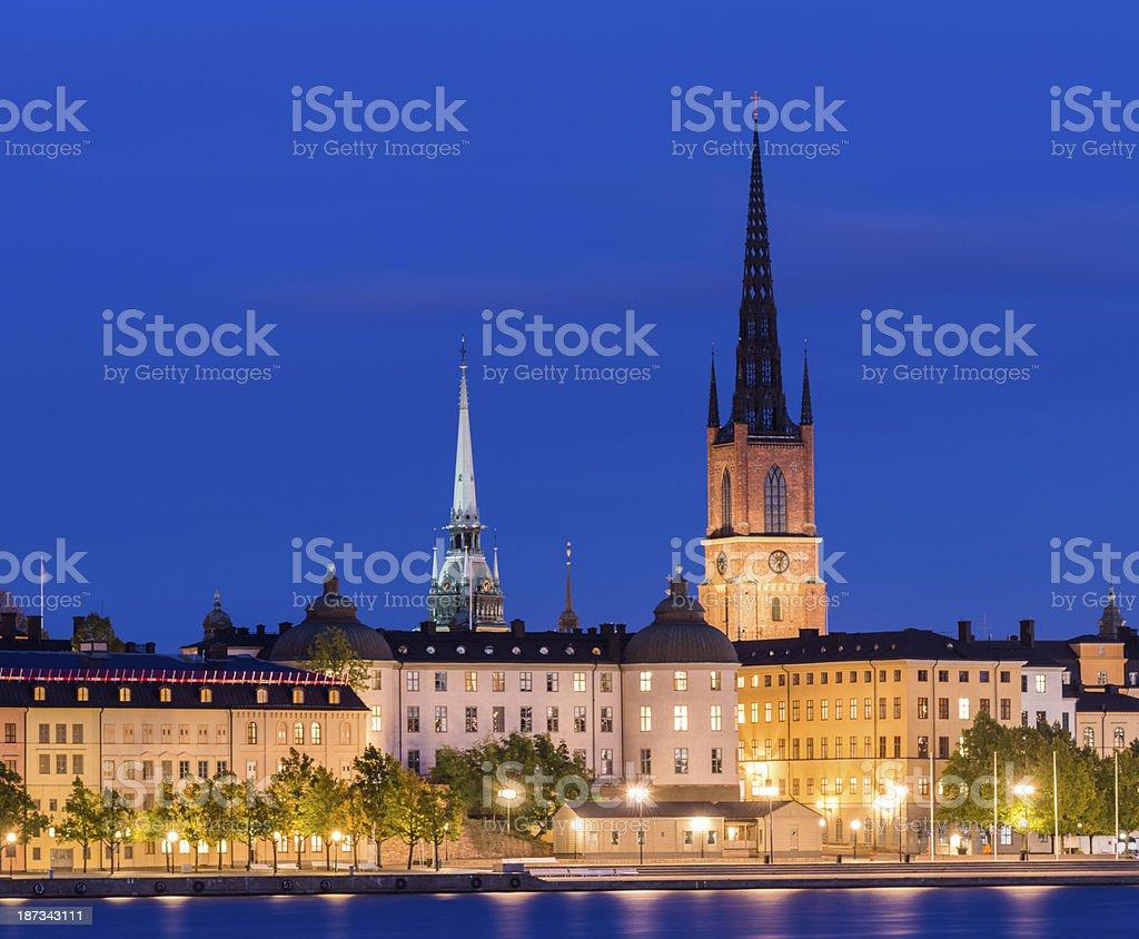 Riddarholmen in Stockholm in Sweden stock photo