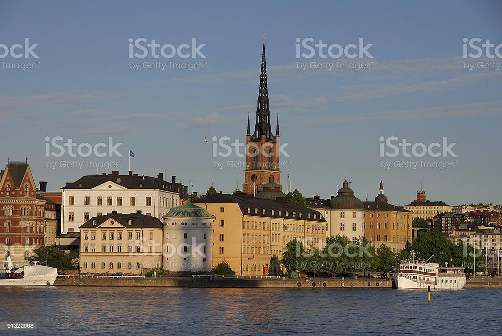 Riddarholmen, Stockholm Old Town stock photo