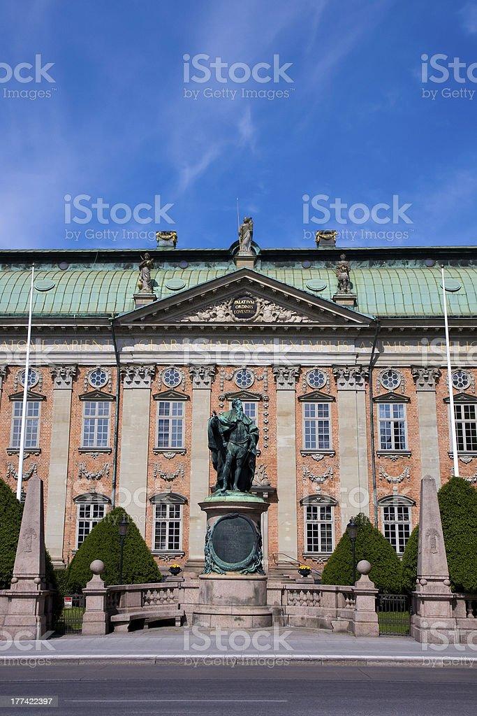 Riddarhuset building in Stockholm. stock photo