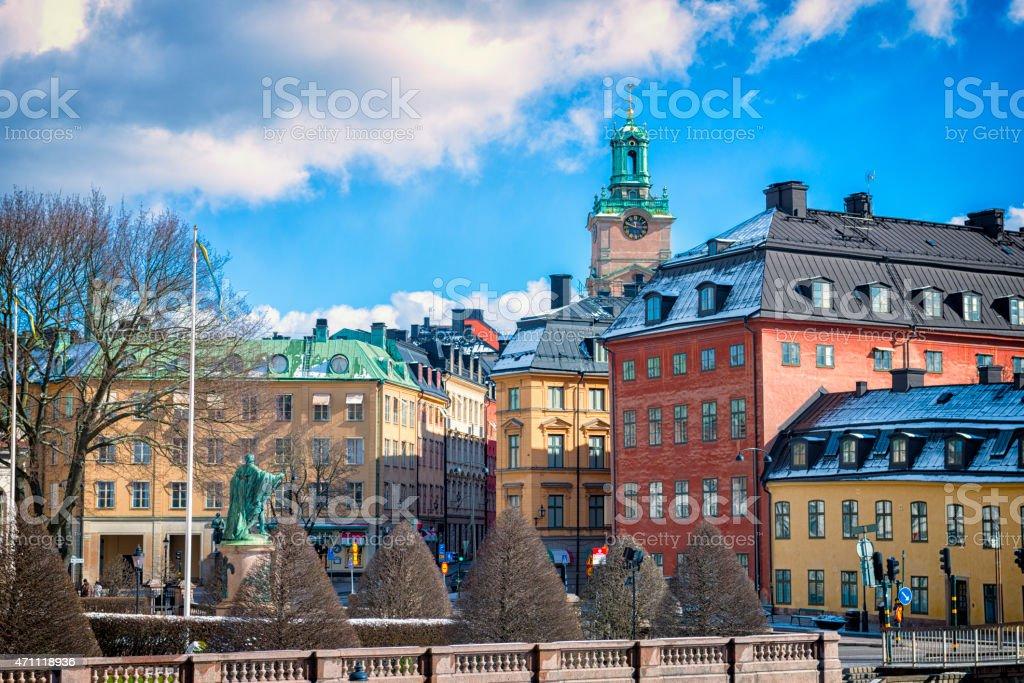 Riddarhustorget in Gamla stan, Stockholm, Sweden stock photo