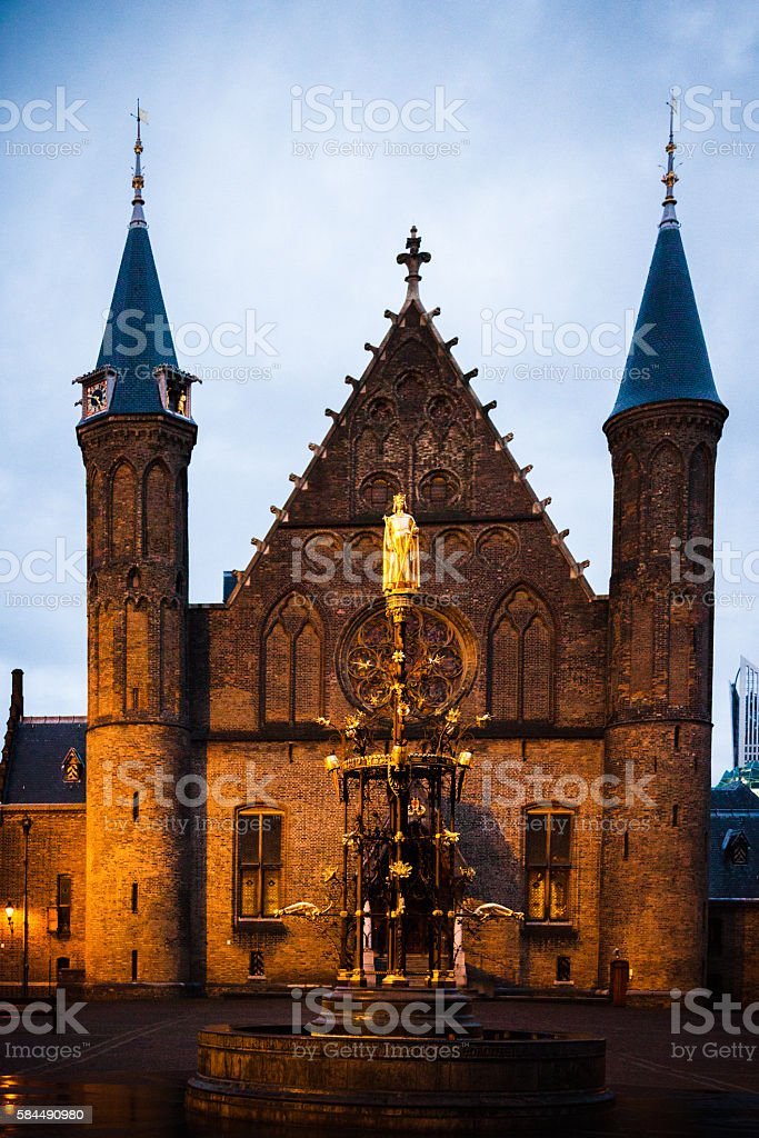 Ridderzaal - The Knights' Hall stock photo