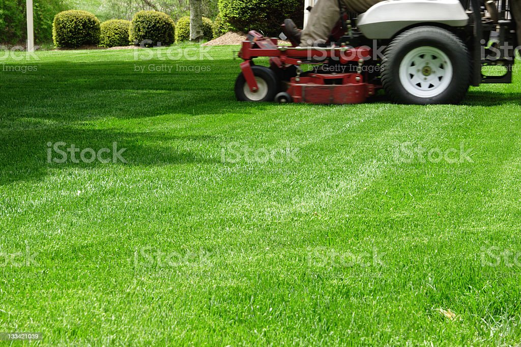 Ride on Mowing stock photo