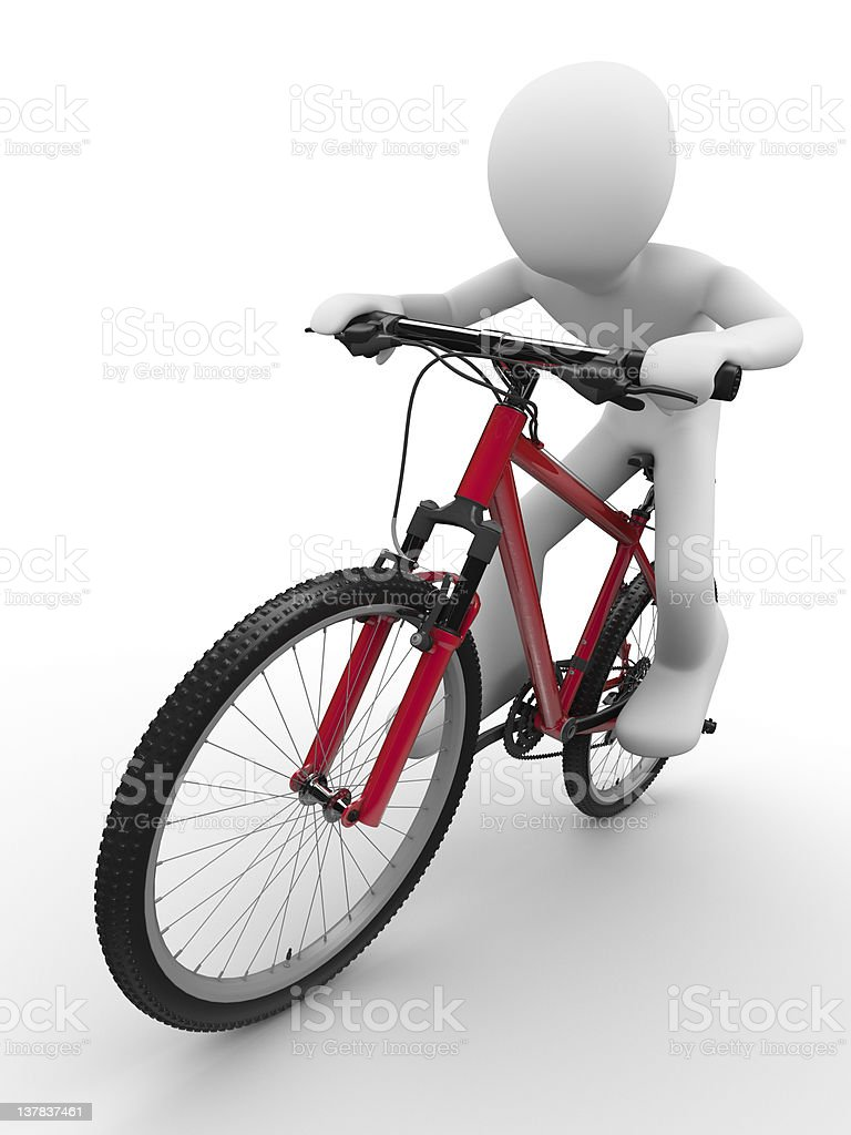 Ride that bike concept royalty-free stock photo