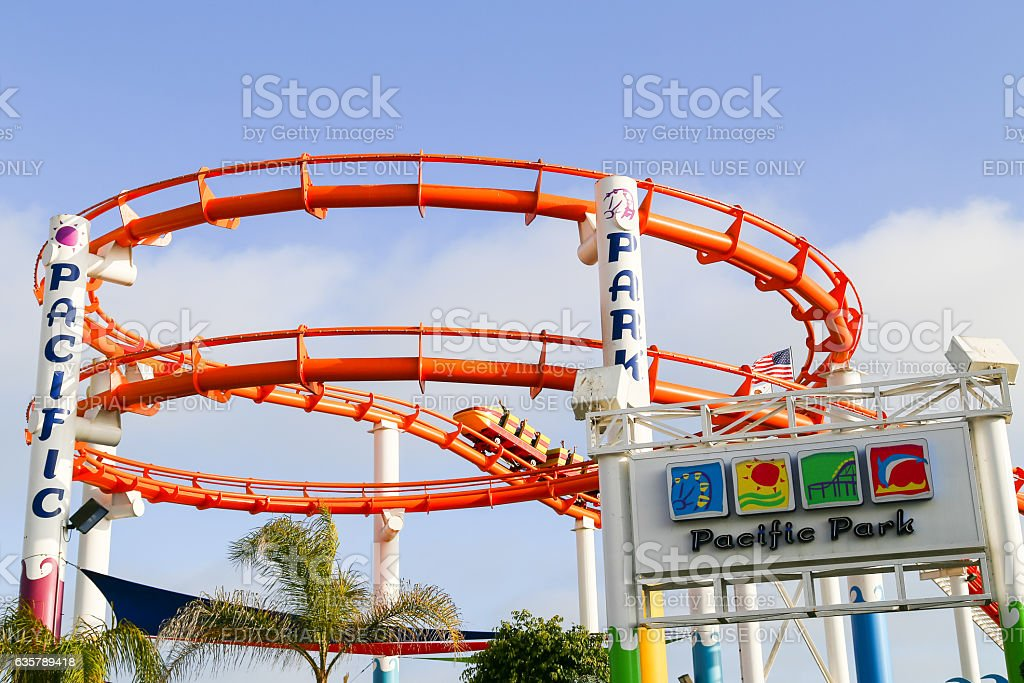 Ride the Rollercoaster stock photo