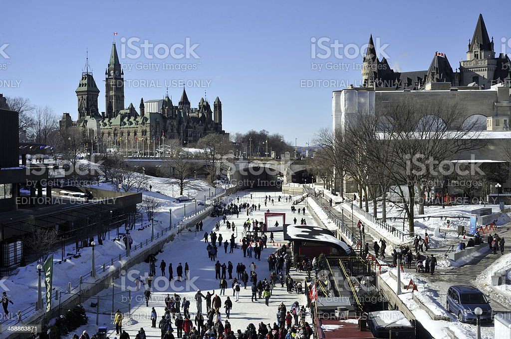 Rideau Canal in Ottawa stock photo