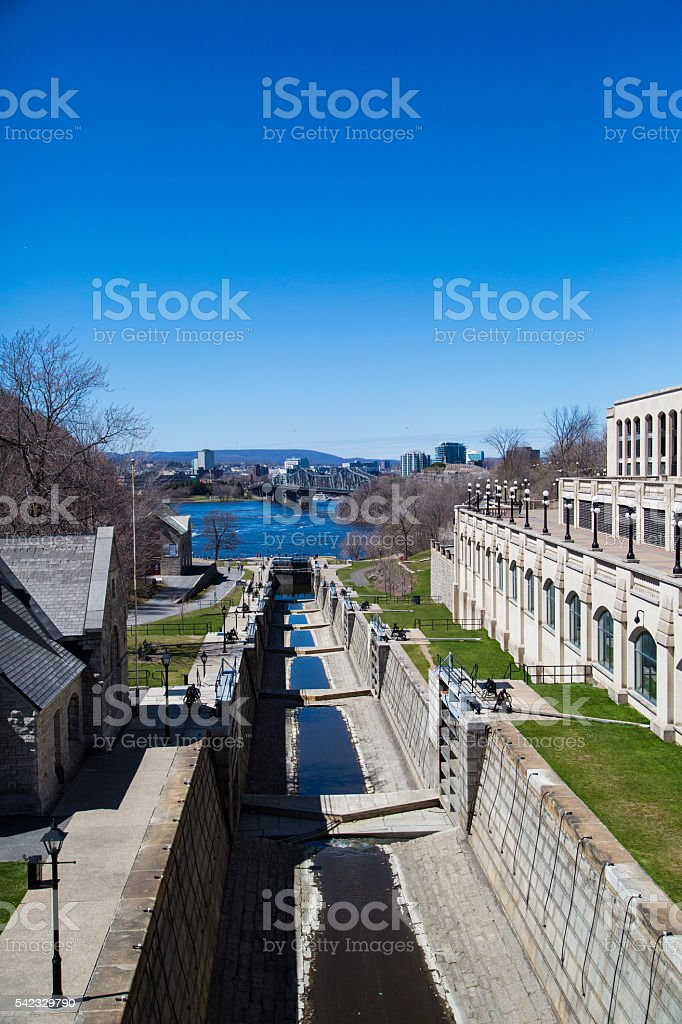 Rideau Canal in Ottawa stock photo