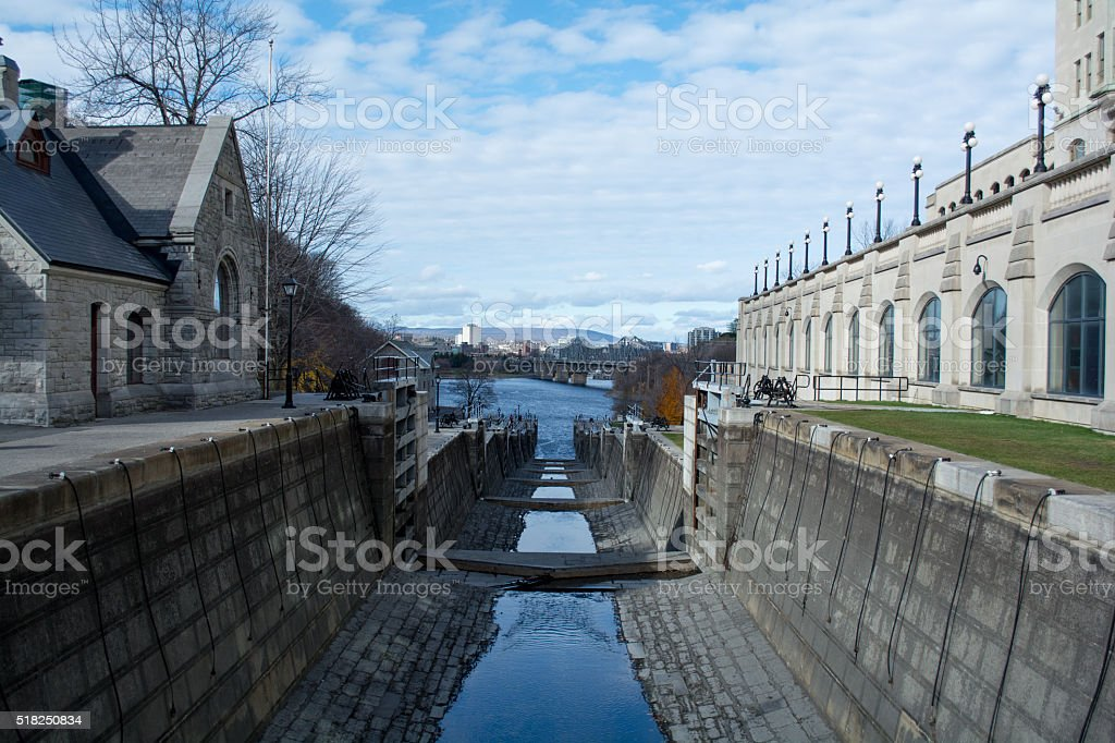 Rideau Canal, Ottawa, Canada stock photo