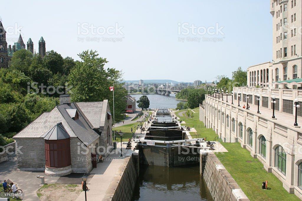 Rideau Canal Ottawa royalty-free stock photo