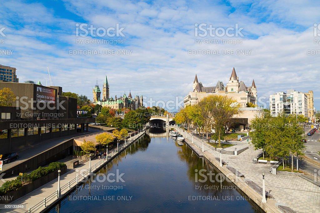 Rideau Canal - Ottawa stock photo