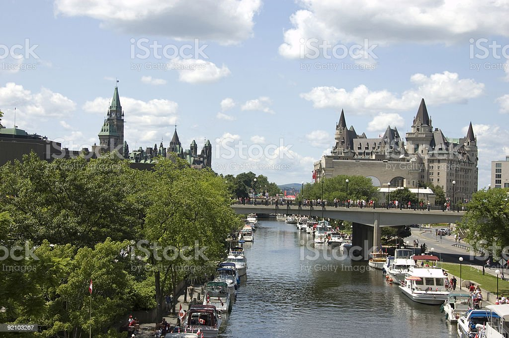 Rideau Canal Ottawa,Canada stock photo