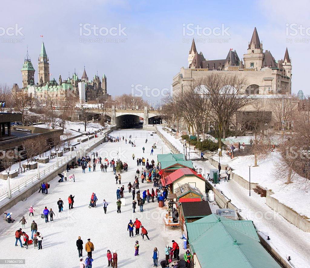 Rideau Canal Skating Ring in Otawa stock photo
