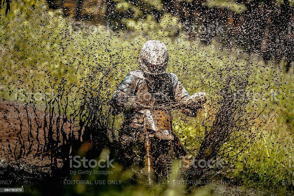 rider Enduro motorcycle royalty-free 스톡 사진