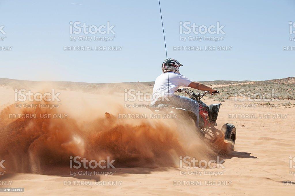 ATV rider in Utah royalty-free stock photo