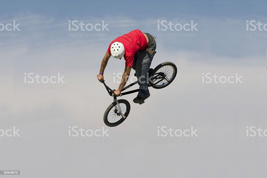 BMX rider jump royalty-free stock photo