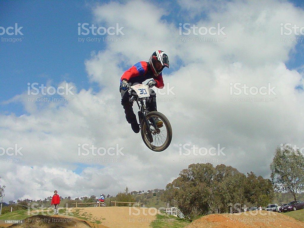 BMX Rider Mid Air royalty-free stock photo
