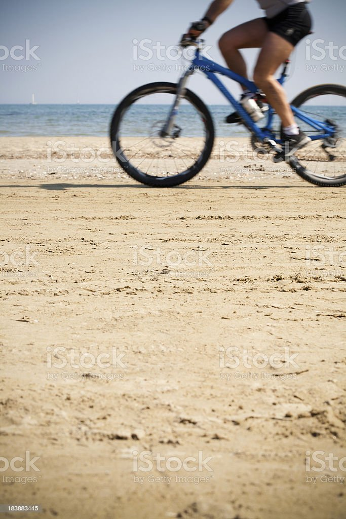 Rider on the beach stock photo